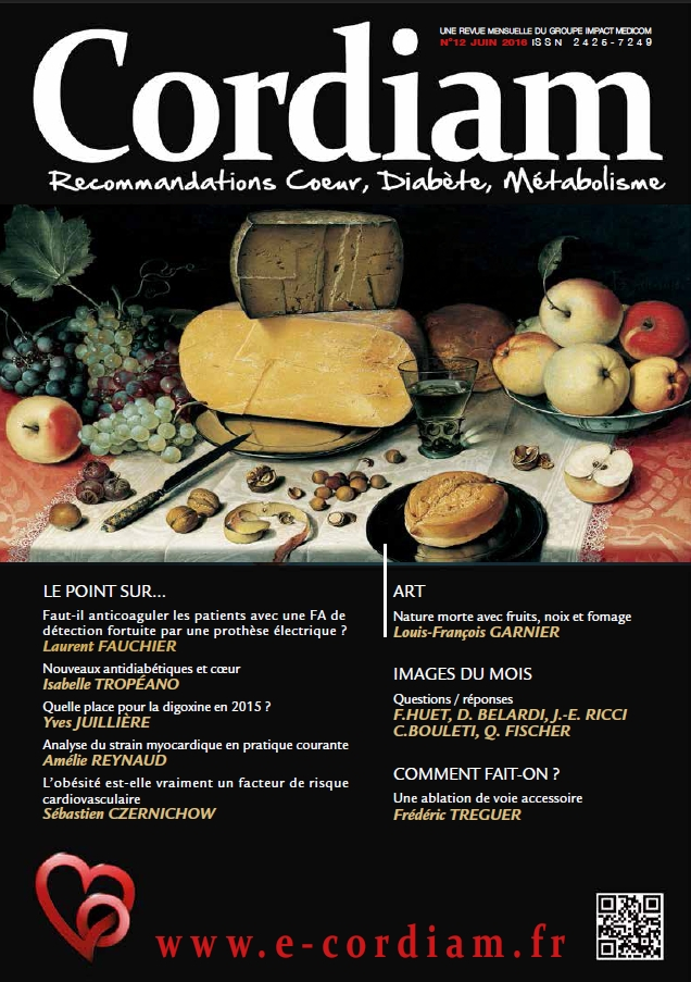 Couverture N°12 de la revue cardiologique CORDIAM