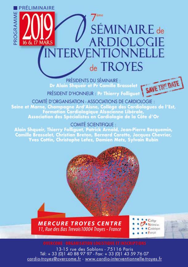 7ème Séminaire de Cardiologie Interventionnelle de Troyes